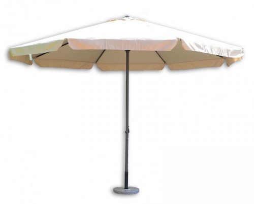 Jednoduchý velký béžový slunečník průměr čtyři metry