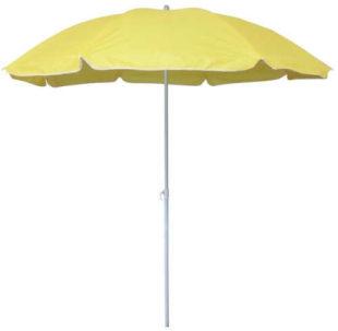 Levný žlutý plážový slunečník