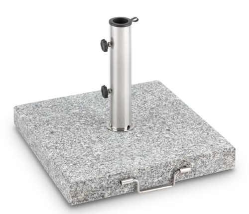 Obdélníkový stojan na slunečník z leštěného granitu