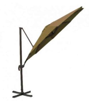 Snadno skládací béžový zahradní slunečník 3,25 m