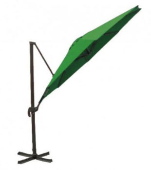 Zelený boční slunečník 3,25 m