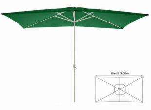 Zelený obdélníkový slunečník 2x3 metry