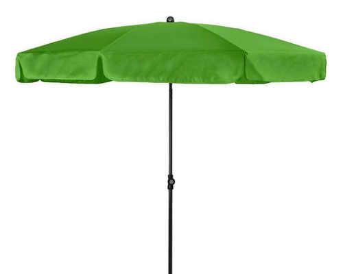 Dvoumetrový světle zelený zahradní slunečník
