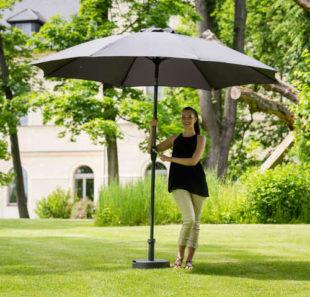 Hliníkový zahradní slunečník průměr 3,5 m