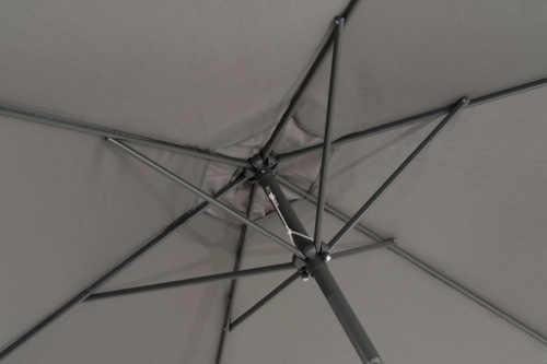 Kvalitní konstrukce slunečníku s šesti žebry