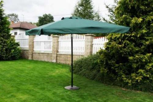 Šestiúhelníkový naklápěcí zahradní slunečník zelené barvy
