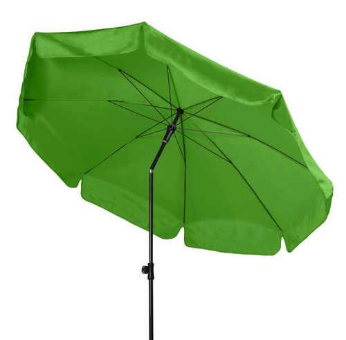 Světle zelený naklápěcí slunečník na zahradu
