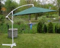 Zahradní slunečník - zelený, 3 m