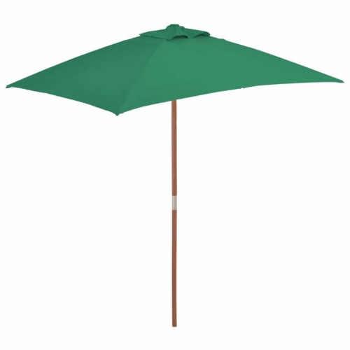 Zelený dřevěný zahradní slunečník
