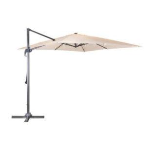 Luxusní závěsný slunečník v béžovém provedení