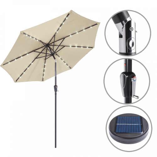 Zahradní slunečník s moderním LED osvětlením