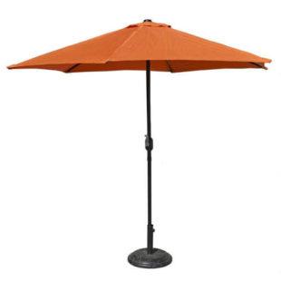Levný zahradní slunečník s průměrem klobouku tři metry