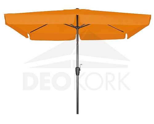 Oranžový čtvercový zahradní slunečník s kličkou