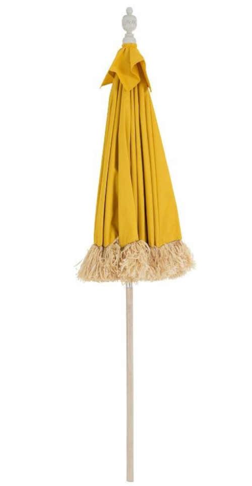 slunečník z bambusu zdobený třásněmi