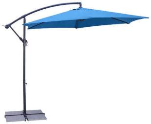 Modrý boční závěsný zahradní slunečník Gap 300/245cm