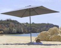 Šedý obdélníkový slunečník 3 x 2 metry