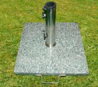 Kvalitní stojan na slunečník ze žuly a oceli