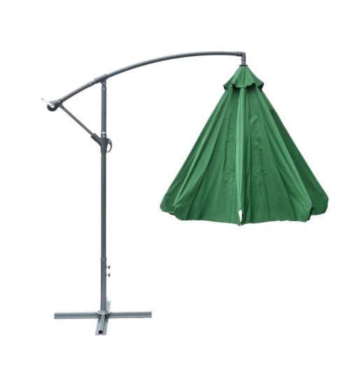 moderní zelený lampový slunečník