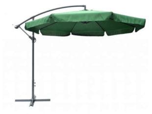 Boční naklápěcí slunečník v zeleném provedení