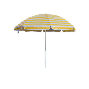 Plážový slunečník v pruhovaném designu